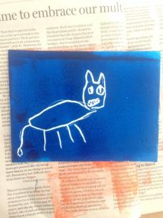 scratchfoam print doggy