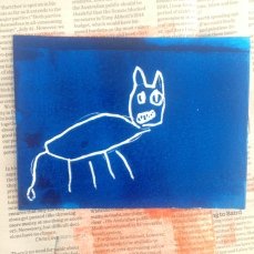 scratchfoam print doggy